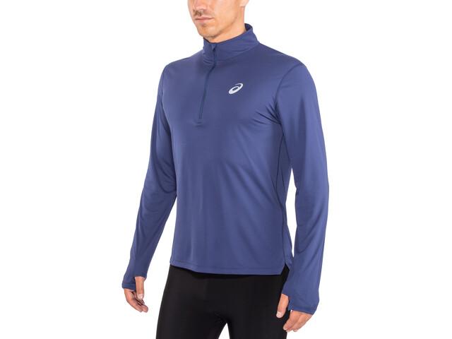 asics Silver Bluza z długim rękawem i zamkiem błyskawicznym 1/2 Mężczyźni, indigo blue